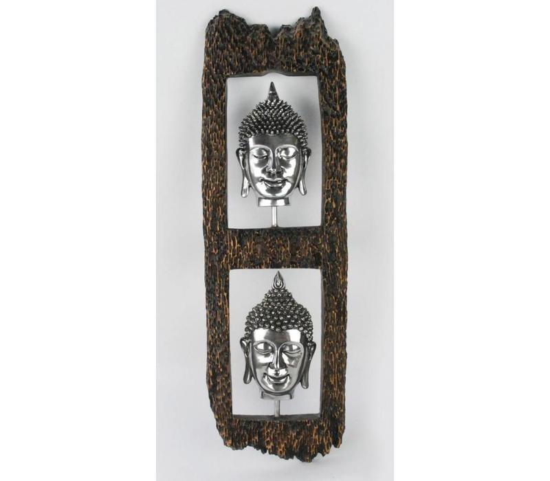 Boeddha Hoofd Wanddecoratie