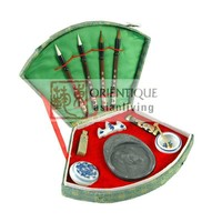 Fine Asianliving Chinese Calligraphy Brush Set 11pcs Luxurious Giftbox
