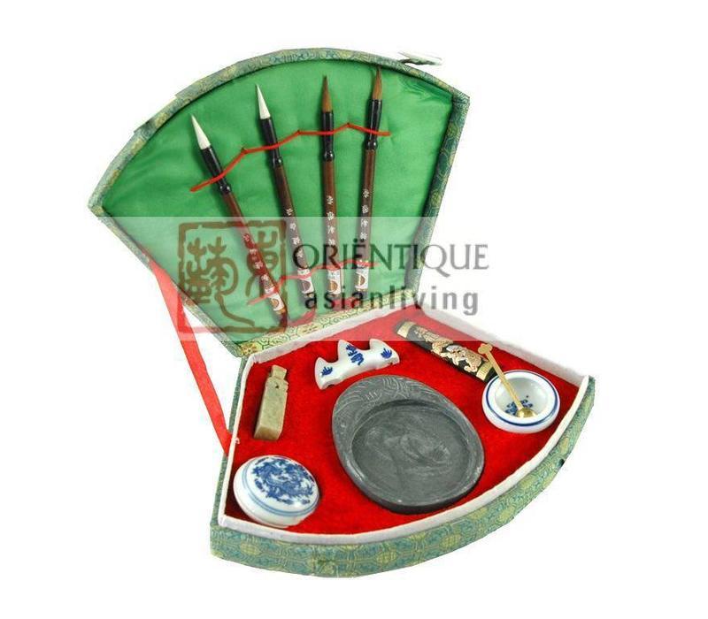 Fine Asianliving Chinese Kalligrafie Penselen Set/11 Luxe Giftbox