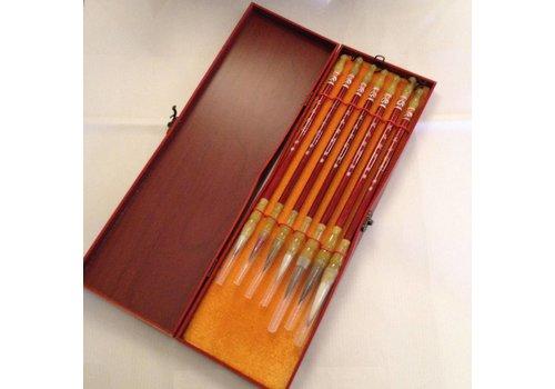 Fine Asianliving Chinesisches Kalligraphie Pinsel Set/7 Malerei Zeichnung Geschenkbox