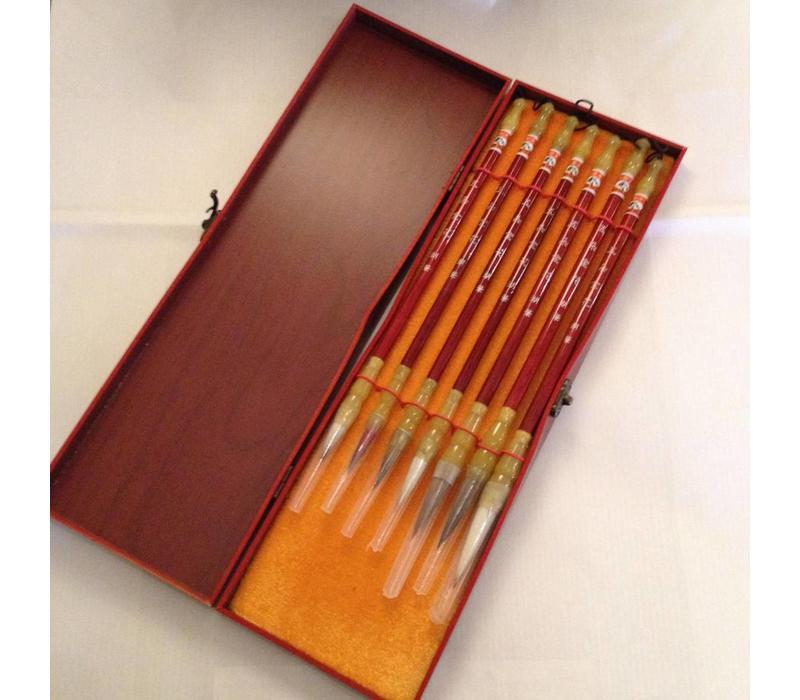Chinesisches Kalligraphie Pinsel Set/7 Malerei Zeichnung Geschenkbox