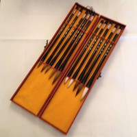 Fine Asianliving Chinese Calligraphy Brushes Set/10 Luxurious Giftbox