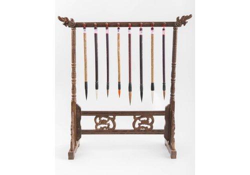 Fine Asianliving Kalligrafie Penselen Rek Hout Handgesneden