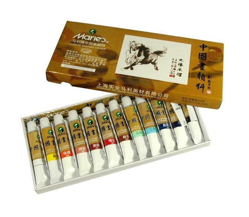 Chinese Calligraphy Painting Ink Tubes 12 Colors