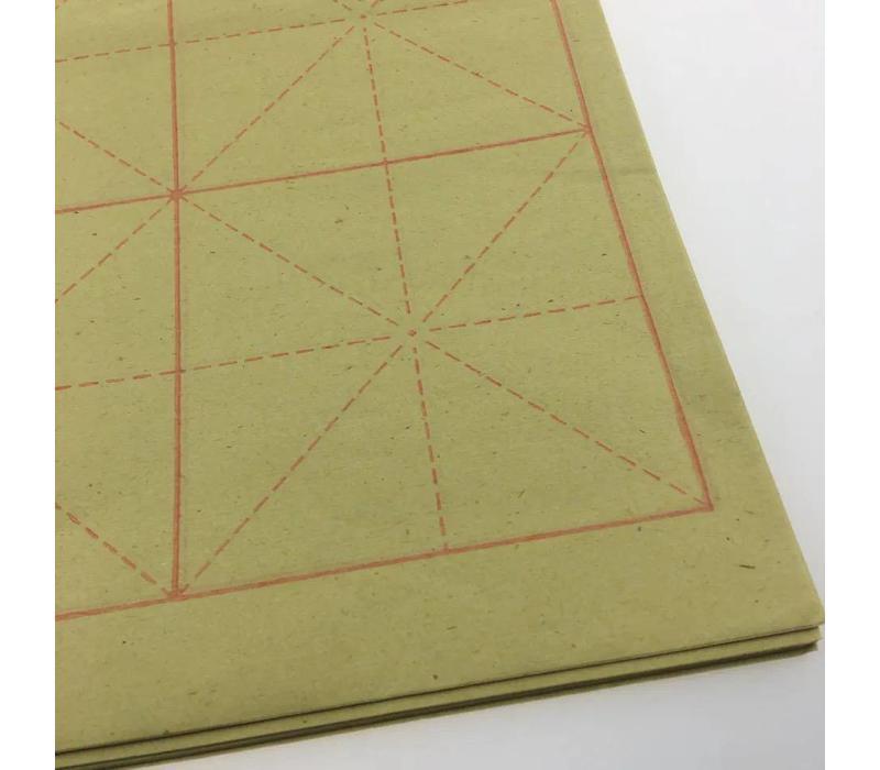 Chinese Kalligrafie Papier met Raster Voor Beginners