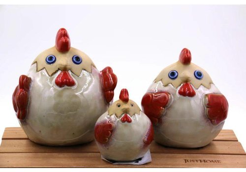 Fine Asianliving Chicken Set / 3 Pottery