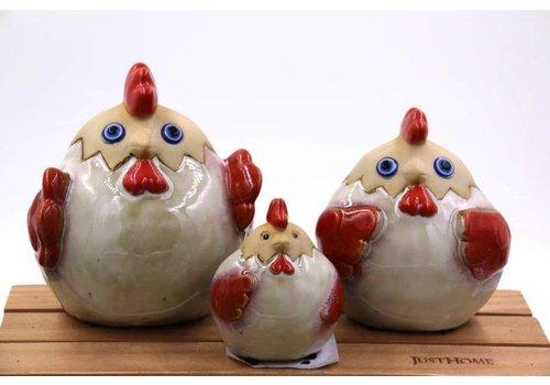 Fine Asianliving Kippen Set/3 Aardewerk