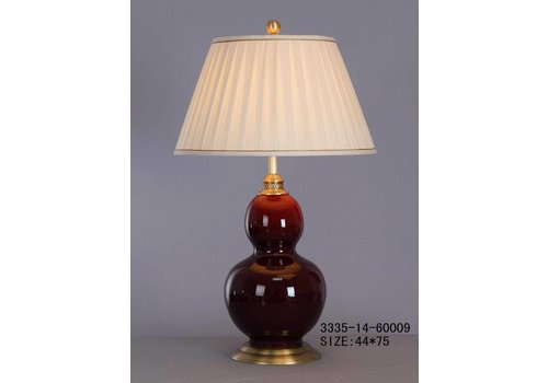 Fine Asianliving Fine Asianliving Oriental Table lamp Porcelain Plateeaux Red