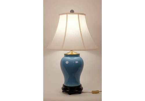 Fine Asianliving Fine Asianliving Oriental Lampe de Table Porcelaine Glassy Blue