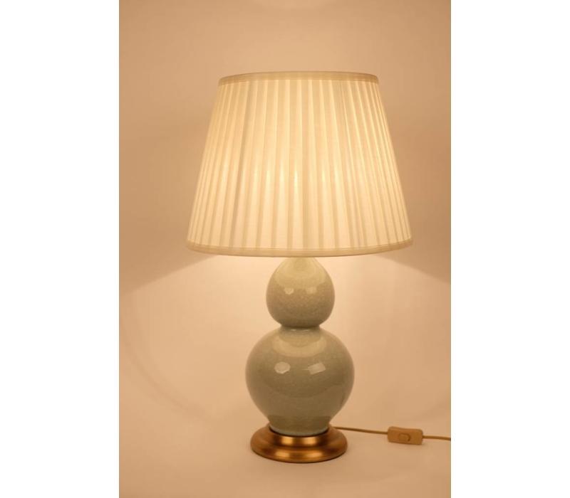 Fine Asianliving Oosterse Tafellamp Porselein Craquelle Mint