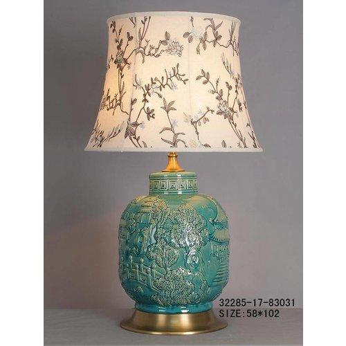 Fine Asianliving Oriental Porcelain Table Lamp Turquoise VilLow