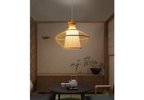 Fine Asianliving Bamboe Gevlochten Hanglamp