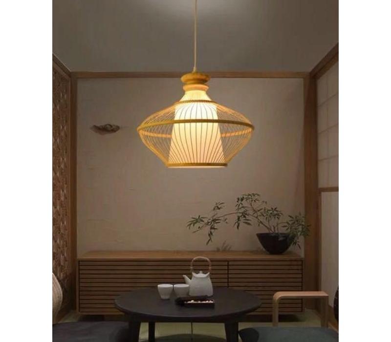 Fine Asianliving Lampara de techo Bambú Lampara Colgante Hecho a mano - Ophelia