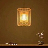 Deckenleuchte Pendelleuchte Beleuchtung Bambus Lampenschirm Handgefertigt - Alice