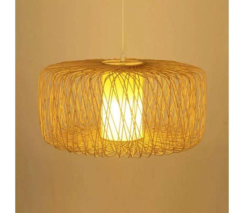 Fine Asianliving Deckenleuchte Pendelleuchte Beleuchtung Bambus Lampenschirm Handgefertigt - Noelle