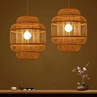 """Preorder Week 30 Fine Asianliving Bamboe Hanglamp Handgemaakt - """"Evon"""""""