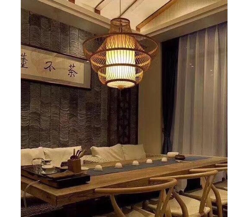 Fine Asianliving Plafoniera Lampada A Sospensione Bambù Paralume Fatto A Mano - Julie