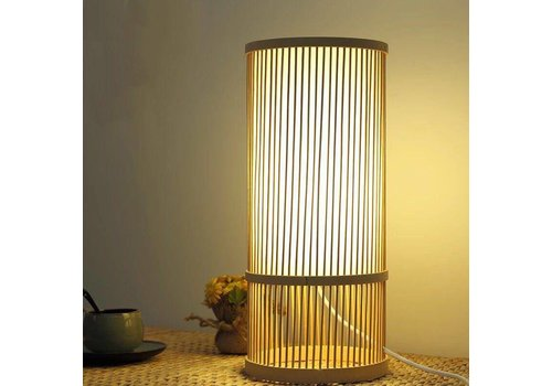 "Fine Asianliving Fine Asianliving Bamboe Tafellamp Bureaulamp - ""Maya"""
