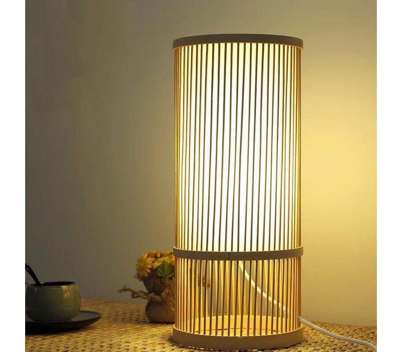 "Fine Asianliving Oosterse Bamboe Tafel Bureau Lamp - ""Maya"""