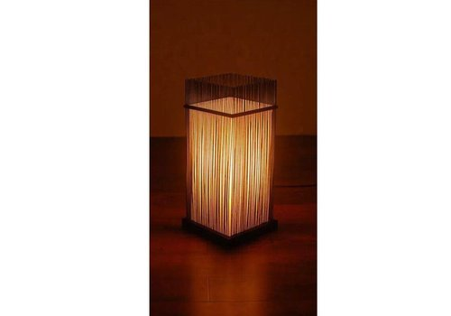 "Fine Asianliving Fine Asianliving Oriental Bamboo Desk Lamp - ""Ryan"""