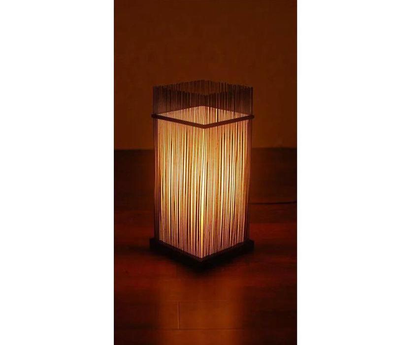 Oosterse Bamboe Tafel Bureau Lamp