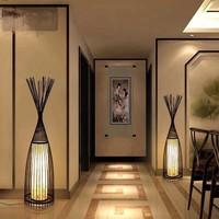 Lampadaire sur pied fin en bambou Asianliving - James