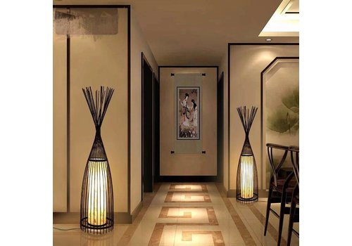 "Fine Asianliving Fine Asianliving Bamboo braided floor lamp - ""James"""