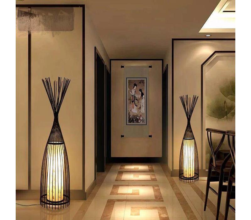 "Fine Asianliving Bamboo braided floor lamp - ""James"""