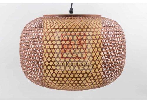 Fine Asianliving Lámpara de Techo Japonés de Bambú - Shiroi - D.42 x Alt.30 cm