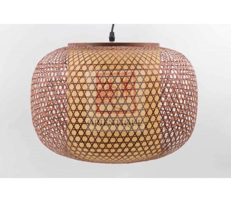 Japanse Bamboe Webbing Hanglamp - Shiroi D42xH30cm
