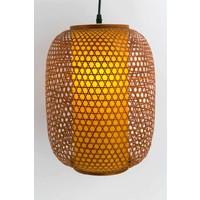 Japanse Bamboe Webbing Hanglamp Handgevlochten - Sendai D40xH60cm