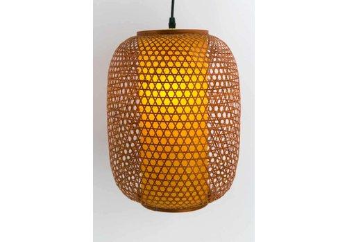 Fine Asianliving Japanese Bamboo Webbing Lamp Sendai D40xH60cm