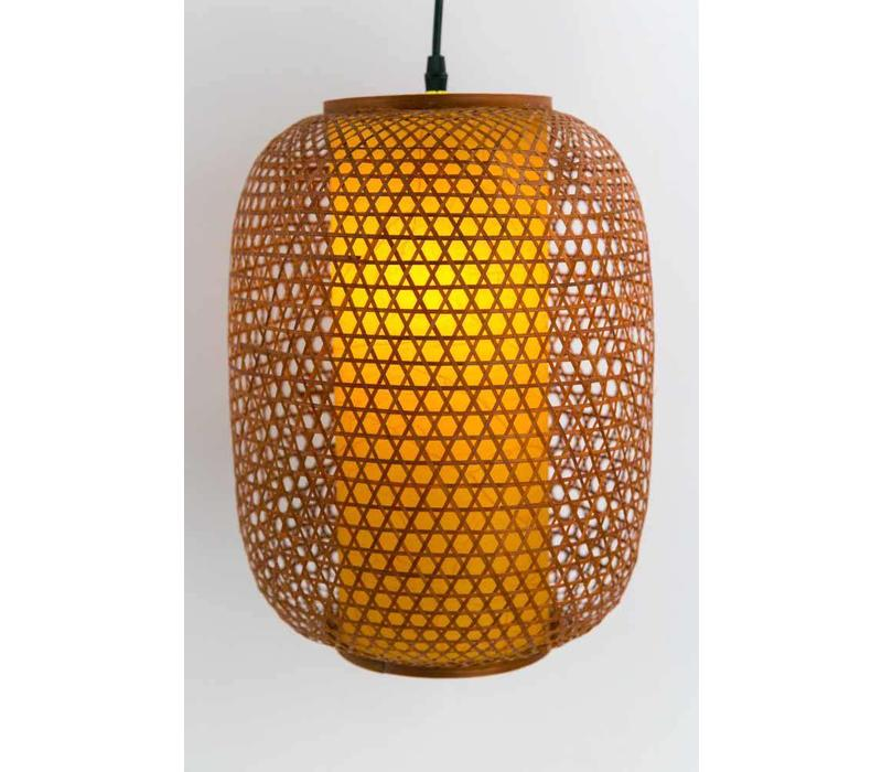 Japanese bamboo ceiling light Medium
