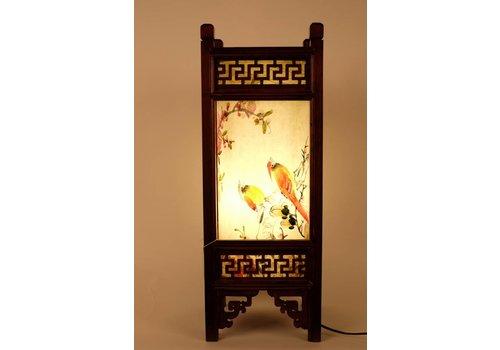 Fine Asianliving Fine Asianliving Japanse Tafellamp Rijstpapier Handbeschilderde Vogels