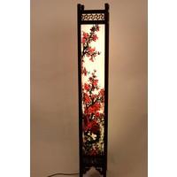 Fine Asianliving Japanese Floor Lamp Hand Painted  Rice Paper Sakura