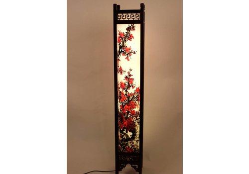 Fine Asianliving Chinese Vloerlamp Rijstpapier Handbeschilderde Sakura