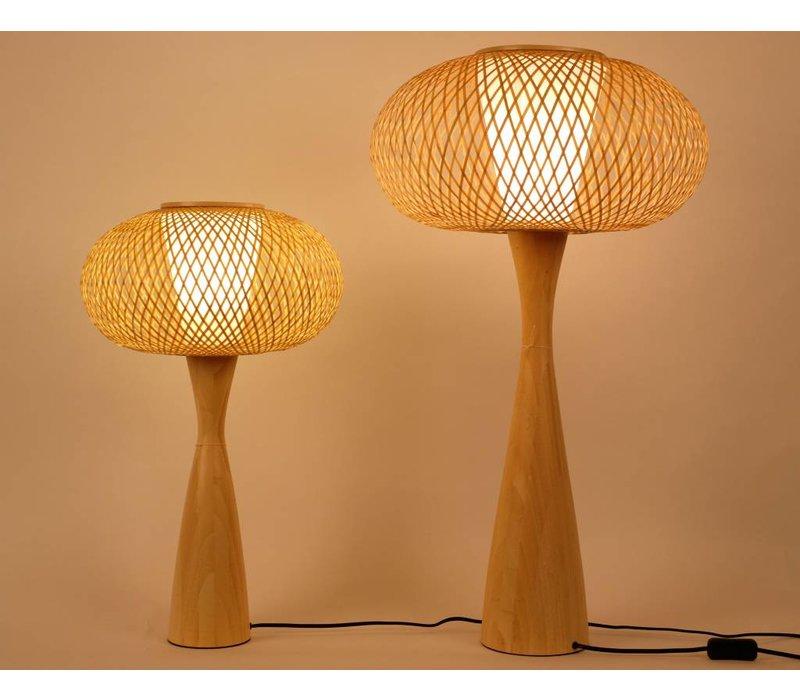 Oosterse Bamboe Tafellamp Dun