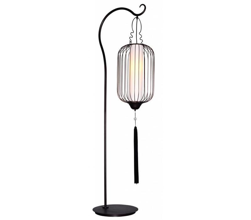 Chinese Staanlamp Metaal Zwart