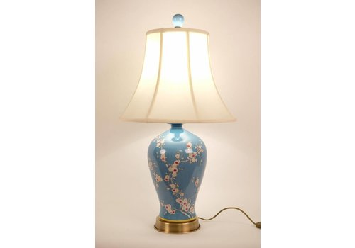Fine Asianliving Chinese Table lamp Porcelain Handpainted Blue