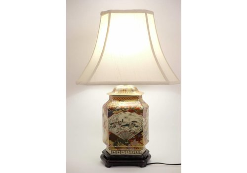 Fine Asianliving Japanese Table lamp Imari Porcelain Large