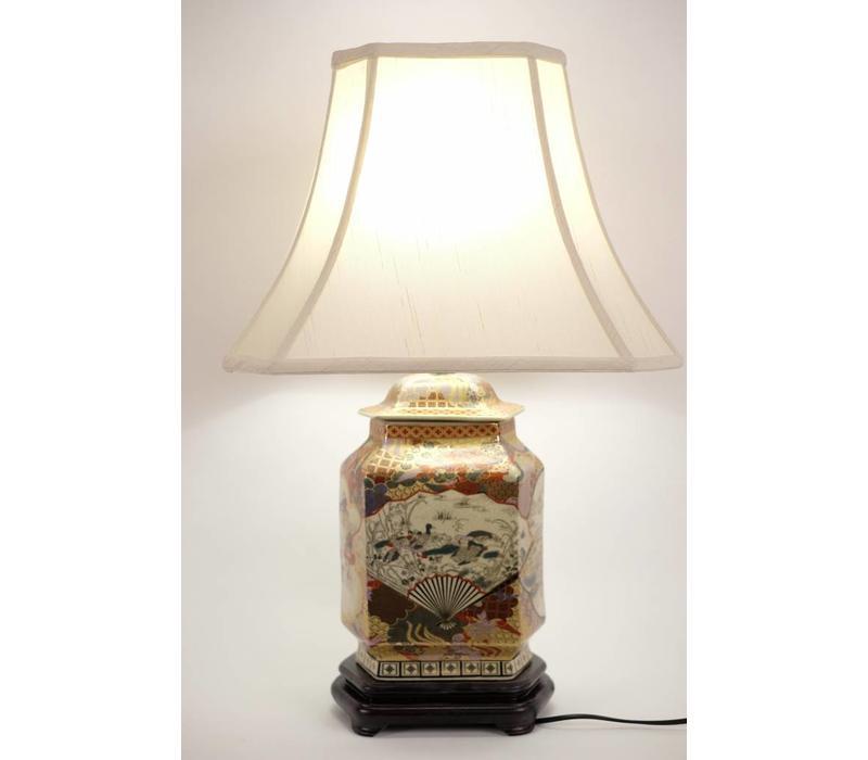 Fine Asianliving Japanse Tafellamp Imari Porselein