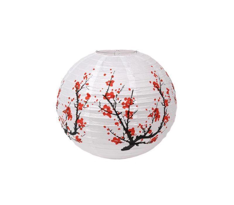 Japanse Lampion Rijstpapier Sakura Kersenbloesem Wit 40cm