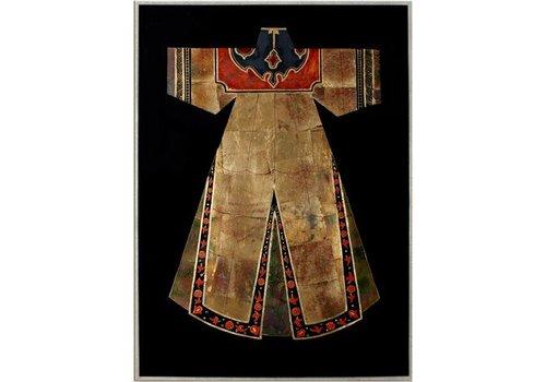Fine Asianliving Oosters Schilderij Chinese kleding bruin met rood