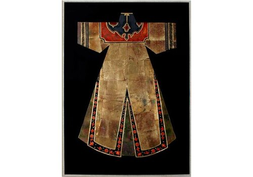 Fine Asianliving Oriental Painting Chinese clothing brown White red
