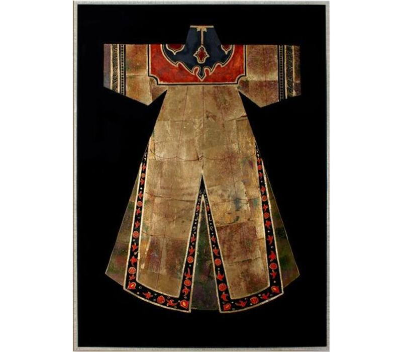 Oriental Painting Chinese clothing brown White red