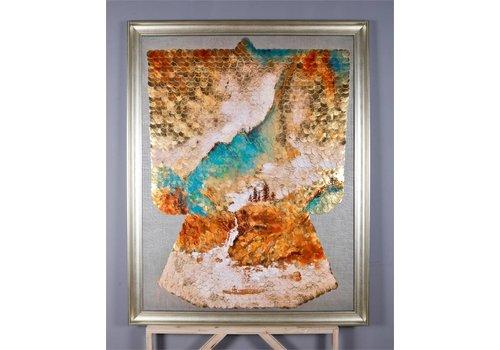 Fine Asianliving Tableau sur Toile Décoration Murale Oriental Paysage chinois