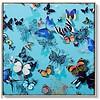 Fine Asianliving Oosters Wanddecoratie Vlinders Blauw 900x900mm