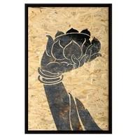 Oriental Painting Buddha Hand Lotus