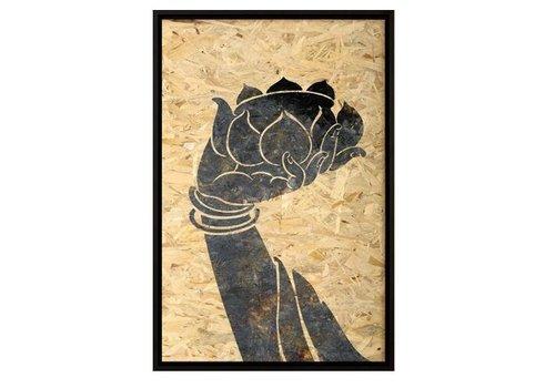 Fine Asianliving Oosters Schilderij Boeddha Hand Lotus