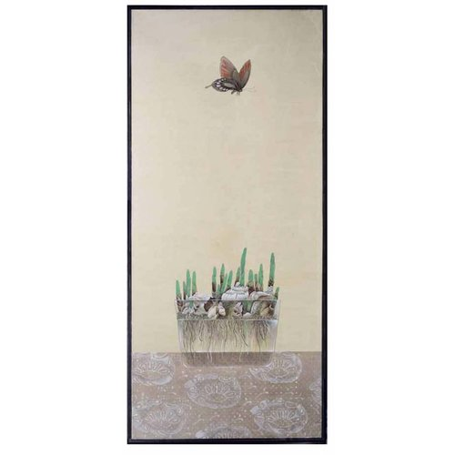 Oriental Painting Butterfly And Flower Bulbs